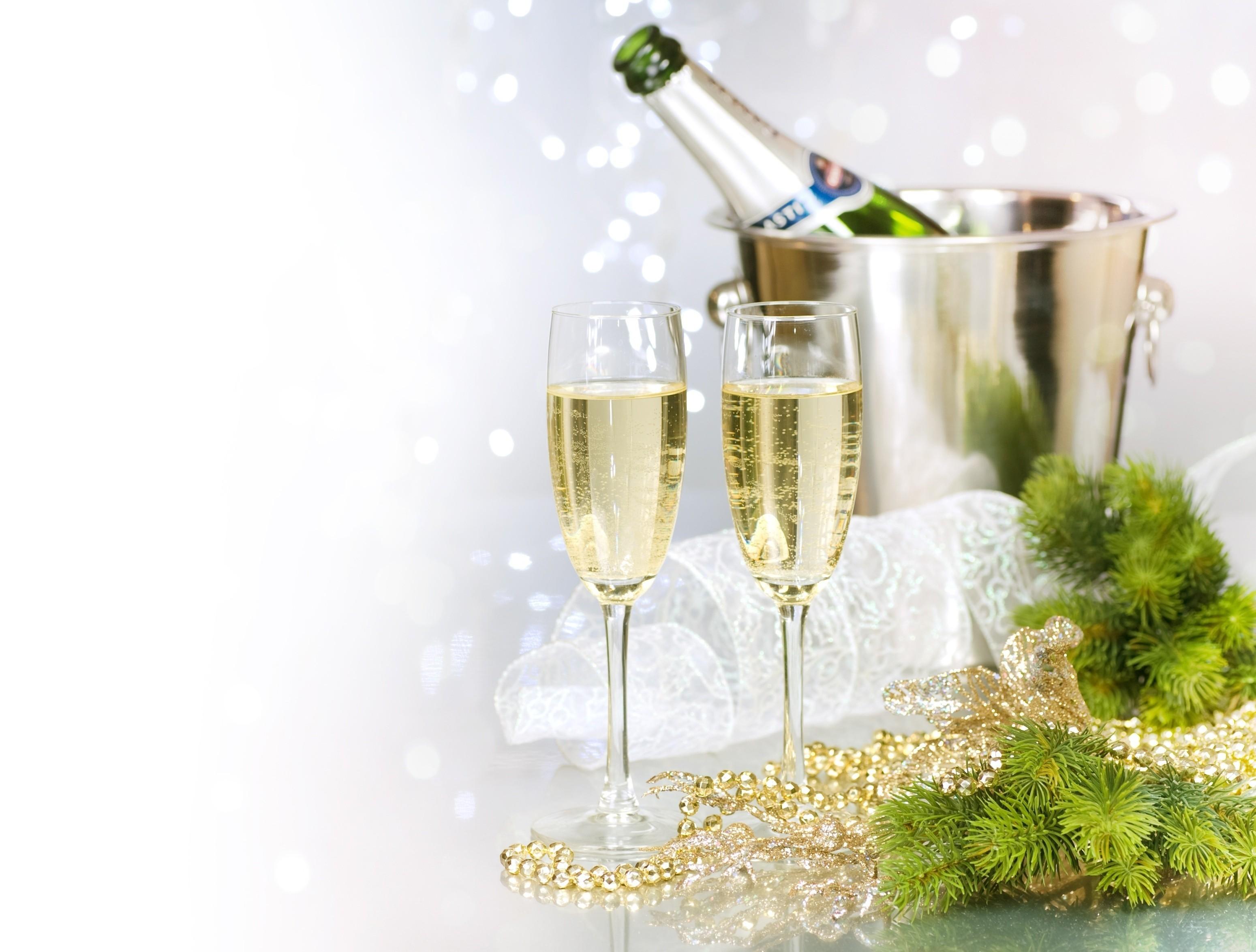 Картинки для шампанского на новый год
